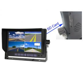 7 Inch car quad DVR monitor