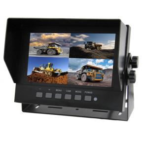 7 inch IP69 waterproof reversing quad monitor