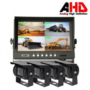 9inch AHD Car Quad Display Reverse Camera Kit