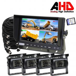 7 Inch 1080P DVR Quad Monitor Camera System