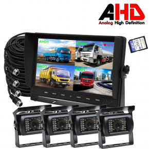 10.1 Inch AHD four Camera Split Monitor Kits